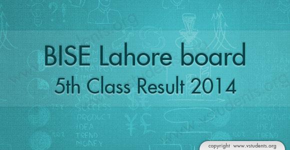 Check Lahore Board 5th Class Result 2014