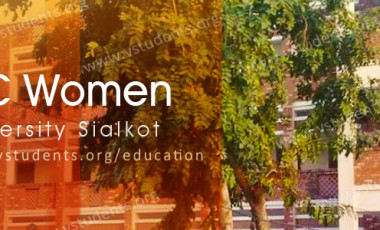 GC Women University Sialkot Admission 2018 Last Date and Fee Structure