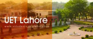 UET Lahore Admissions 2018