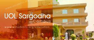 UOL Sargodha Campus Admissions 2018