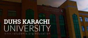 DUHS Karachi Admissions 2019