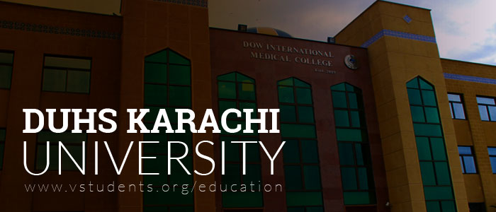 DUHS Karachi Admissions 2018