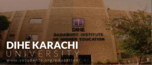 DIHE-Karachi-University-Admissions 2019