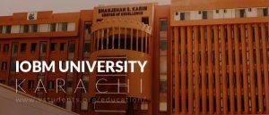 IoBM Karachi Admissions 2019