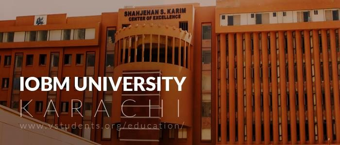 IoBM Karachi Admission 2020 Form Download and Fee Structure