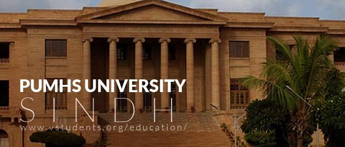 PUMHS Sindh University Admissions 2019
