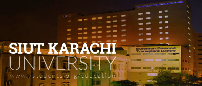 SIUT Karachi Admissions 2020