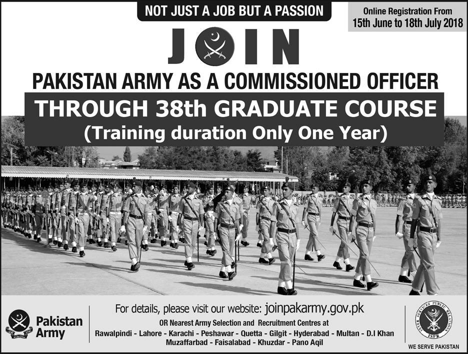 Join Pak Army as a Commissioned officer