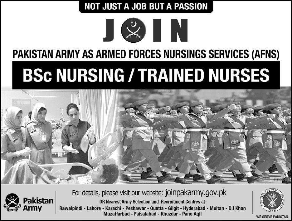 Join Pak Army as AFNS 2018