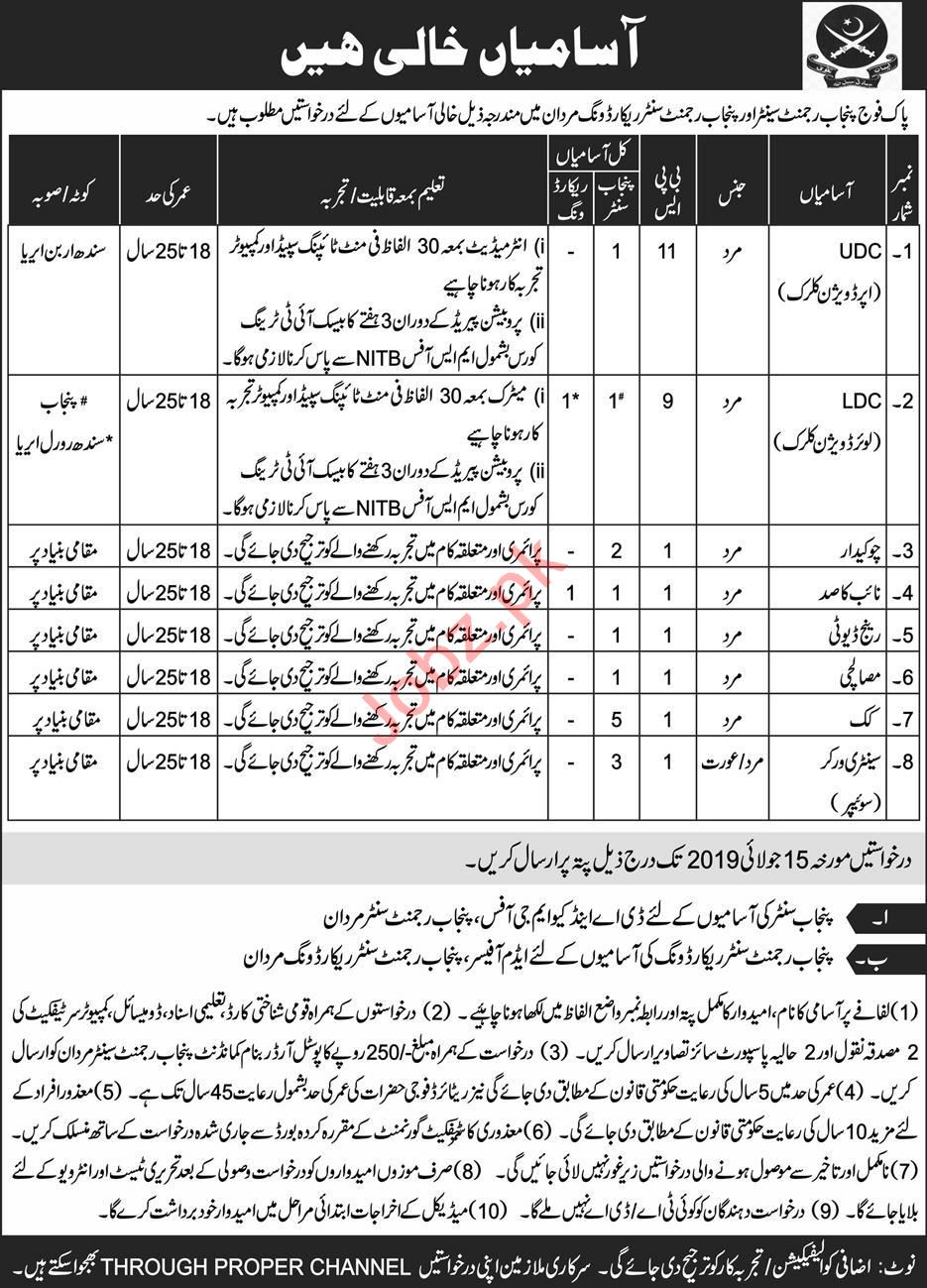 Join Pak Army Advertisement 2019