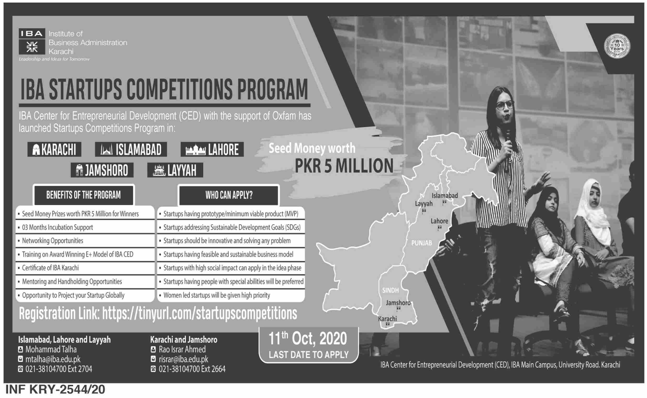 IBA Startups competition program
