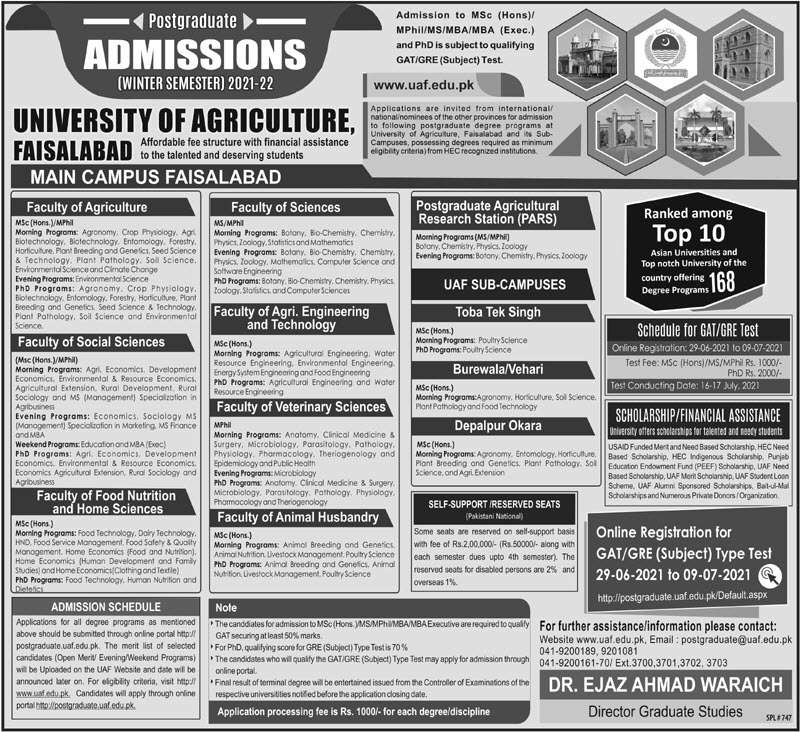 University of Agriculture Faisalaabad
