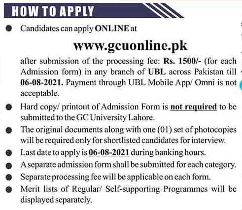 How to apply online GCU